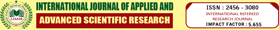 International Journal of Applied and Advanced Scientific Research | Article Issues